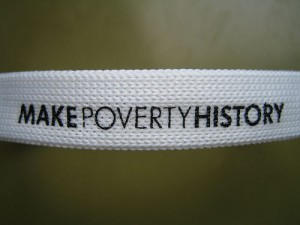 Make Poverty History band